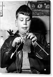 Knit One Drop One Acrylic Print by Derek Berwin
