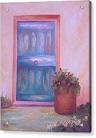 Knock Knock Acrylic Print by Nabil Wehbe