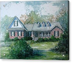 Acrylic Print featuring the painting Knox's Home Illustration by Gretchen Allen