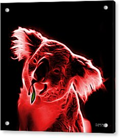 Koala Pop Art - Red Acrylic Print by James Ahn