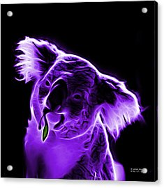 Koala Pop Art - Violet Acrylic Print by James Ahn