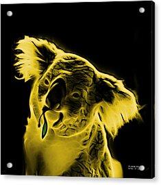Koala Pop Art - Yellow Acrylic Print by James Ahn