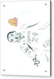 Kobe Acrylic Print by Eric Jones
