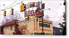 Kodak Building In Atlanta Acrylic Print by Courtney Gainey