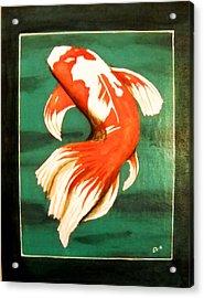 Koi Fish Acrylic Print by Edwin Alverio