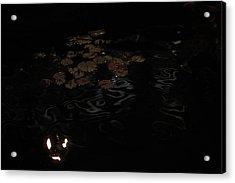 Koi In The Night Acrylic Print by Viktor Savchenko
