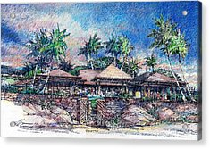 Acrylic Print featuring the drawing Kona Residence by Andrew Drozdowicz