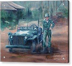 Korean War Hero Acrylic Print by Brenda Thour