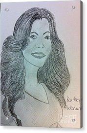 Kourtney Kardashian Acrylic Print by Charita Padilla