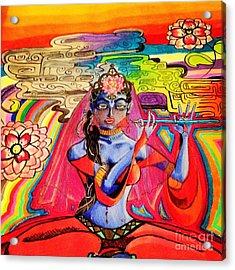 Krishna Acrylic Print by Jeffrey Kyker