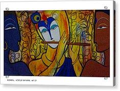 Krishna With Gopi Acrylic Print