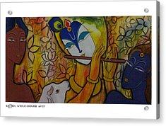 Krishna With Gopis Acrylic Print