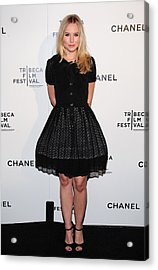 Kristen Bell At Arrivals For Chanel Acrylic Print by Everett