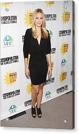 Kristen Bell At Arrivals For Cosmos Acrylic Print by Everett