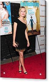 Kristen Bell Wearing A Monique Acrylic Print by Everett