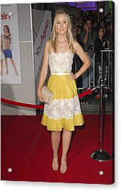 Kristen Bell Wearing A Valentino Dress Acrylic Print by Everett