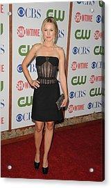 Kristen Bell Wearing A Versus Dress Acrylic Print by Everett