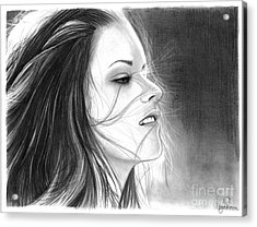 Kristen Stewart Acrylic Print by Crystal Rosene
