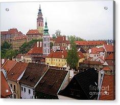 Krumlov  Roofs Acrylic Print by Yury Bashkin