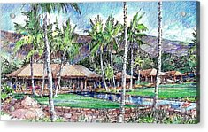 Acrylic Print featuring the drawing Kukio Estate by Andrew Drozdowicz