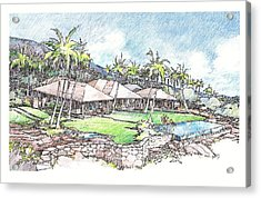 Acrylic Print featuring the drawing Kukio Home by Andrew Drozdowicz