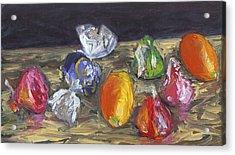 Kumquats And Candy Acrylic Print by Scott Bennett