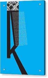 Kurosawa Poster Acrylic Print by Naxart Studio