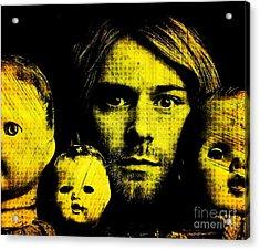 Kurt Cobain Acrylic Print by Ankeeta Bansal