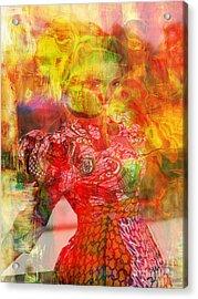 La Belle Acrylic Print by Fania Simon