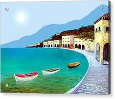 La Citta Sul Mare Acrylic Print