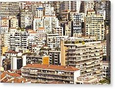 La Condamine And Moneghetti Districts, Monaco Acrylic Print by Carlos Sanchez Pereyra