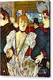 La Goule Arriving At Moulin Rouge Acrylic Print by Pg Reproductions