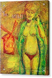 Acrylic Print featuring the painting La Goulue by D Renee Wilson