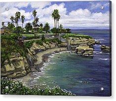 La Jolla Cove 2 Acrylic Print by Lisa Reinhardt