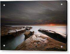 La Jolla Reef Sunset Acrylic Print by Larry Marshall