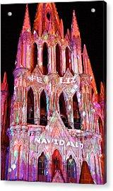 La Parroquia Feliz Navidad Acrylic Print by Anthony George
