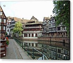 Acrylic Print featuring the photograph La Petite France Strasbourg France by Joseph Hendrix