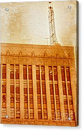 Acrylic Print featuring the painting La Radio Tower by Gregory Dyer