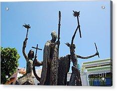 La Rogativa Statue Old San Juan Puerto Rico Acrylic Print by Shawn O'Brien
