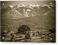 La Sal Mountains Utah Acrylic Print by Marilyn Hunt