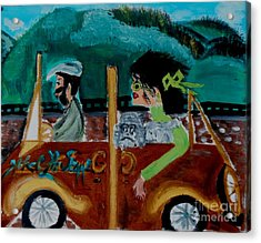 La Shai-on The Road Again-i Will Kill That Hotel Manager When I Get There Acrylic Print by Marie Bulger