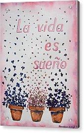 La Vida Es Sueno Acrylic Print by Regina Ammerman