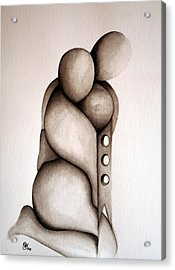 L'abbraccio 2011 Acrylic Print by Simona  Mereu