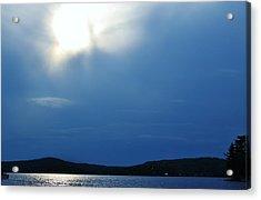 Lac Blue Sky Acrylic Print by Josee Dube