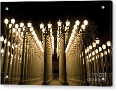 Lacma Light Exhibit In La Acrylic Print