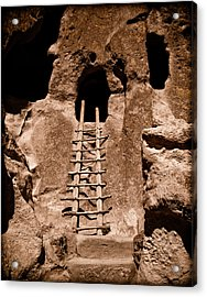 Bandelier National Monument, New Mexico - Ladder Face Acrylic Print