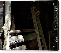 Ladder In The Shadow Acrylic Print