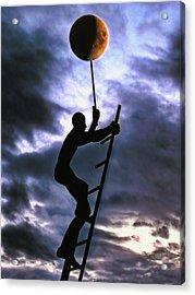 Ladder To The Moon Acrylic Print by Joachim G Pinkawa