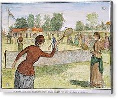 Ladies Lawn Tennis, 1883 Acrylic Print