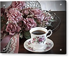 Ladies Tea Time Acrylic Print by Sherry Hallemeier